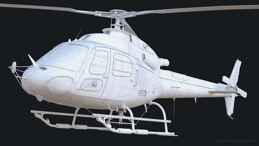 Helicopter 3d Model autor: Robert Kudera